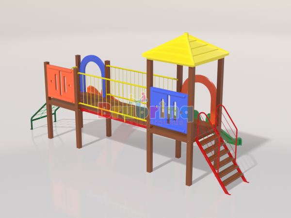 Playground madeira plastica modelo ME 104 marca Brubrinq