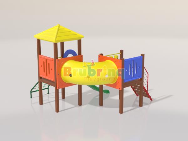Playground madeira plastica modelo ME 105 marca Brubrinq