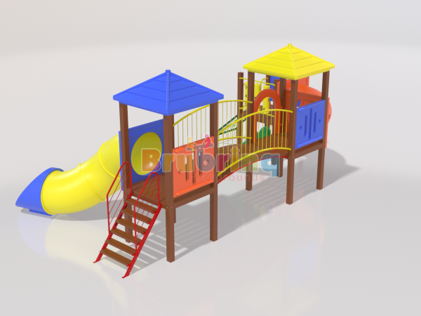 Playground madeira plastica modelo ME 106 marca Brubrinq