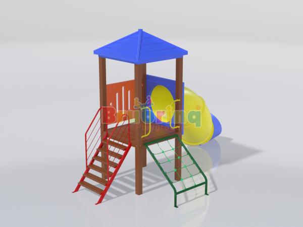 Playground madeira plastica modelo ME 107 marca Brubrinq