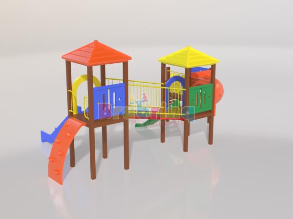 Playground madeira plastica modelo ME 202 marca Brubrinq