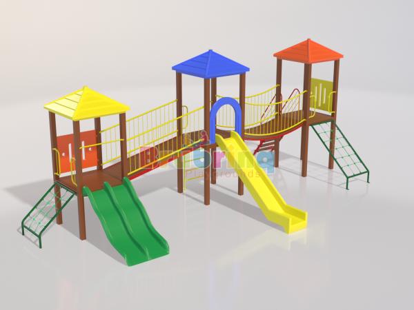 Playground madeira plastica modelo ME 203 marca Brubrinq