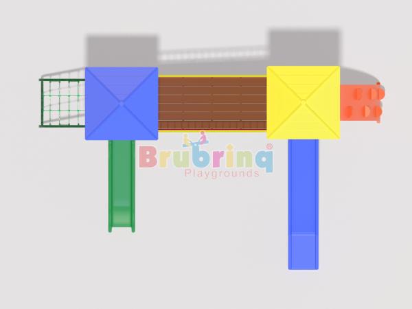 Playground madeira plastica modelo ME 204 marca Brubrinq