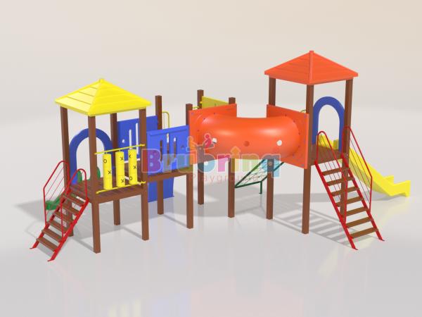Playground madeira plastica modelo ME 205 marca Brubrinq