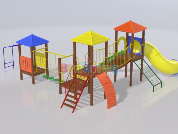 Playground madeira plastica modelo ME 206 marca Brubrinq