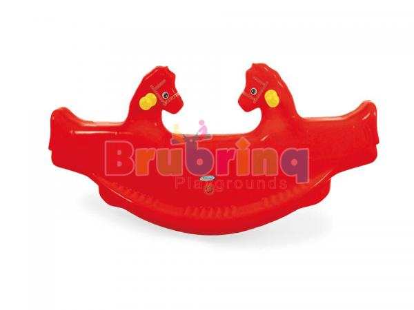 gangorra com formato de cavalinho da marcar brubrinq