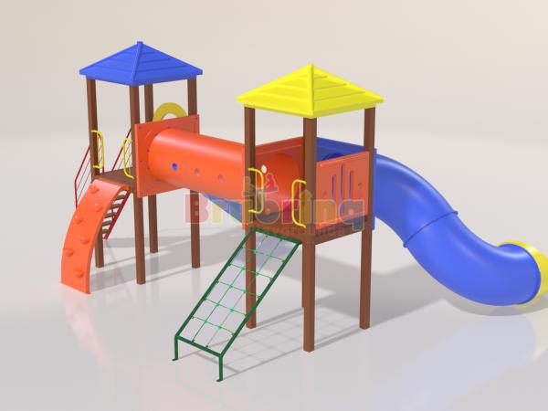 Playground madeira plastica modelo ME 04 marca Brubrinq